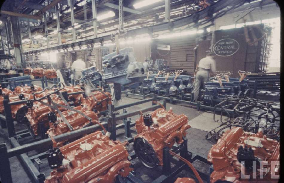 Engines As Received at Tarrytown Assembly in 1959