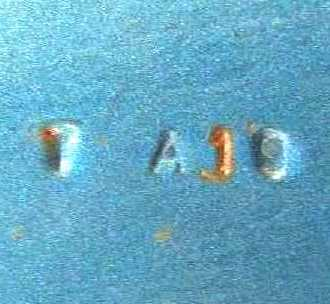 Sheetmetal run number stamped on decklid, TA19