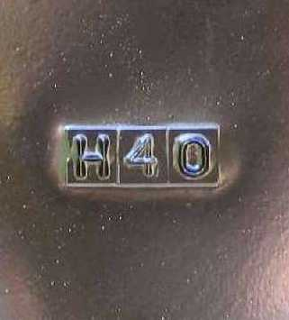 Sheetmetal run number stamped on firewall, H40