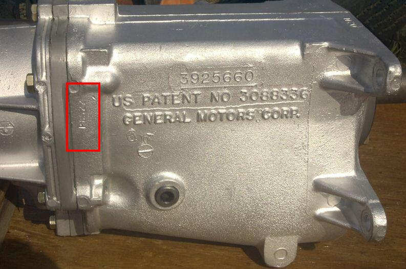 Muncie 4-speed transmissions were stamped on the rear edge of the passenger
