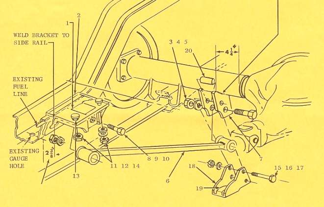 Radius Rod Installation Sketch