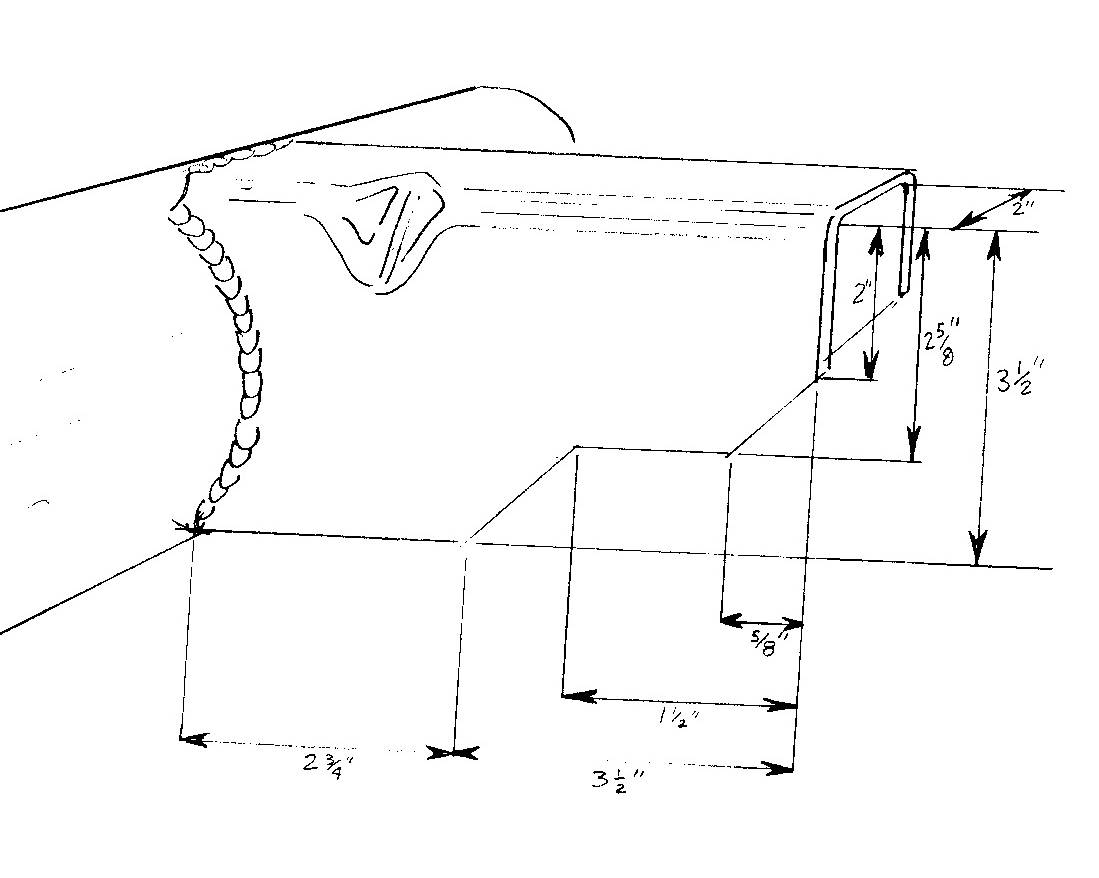 Sketch of axle bracket
