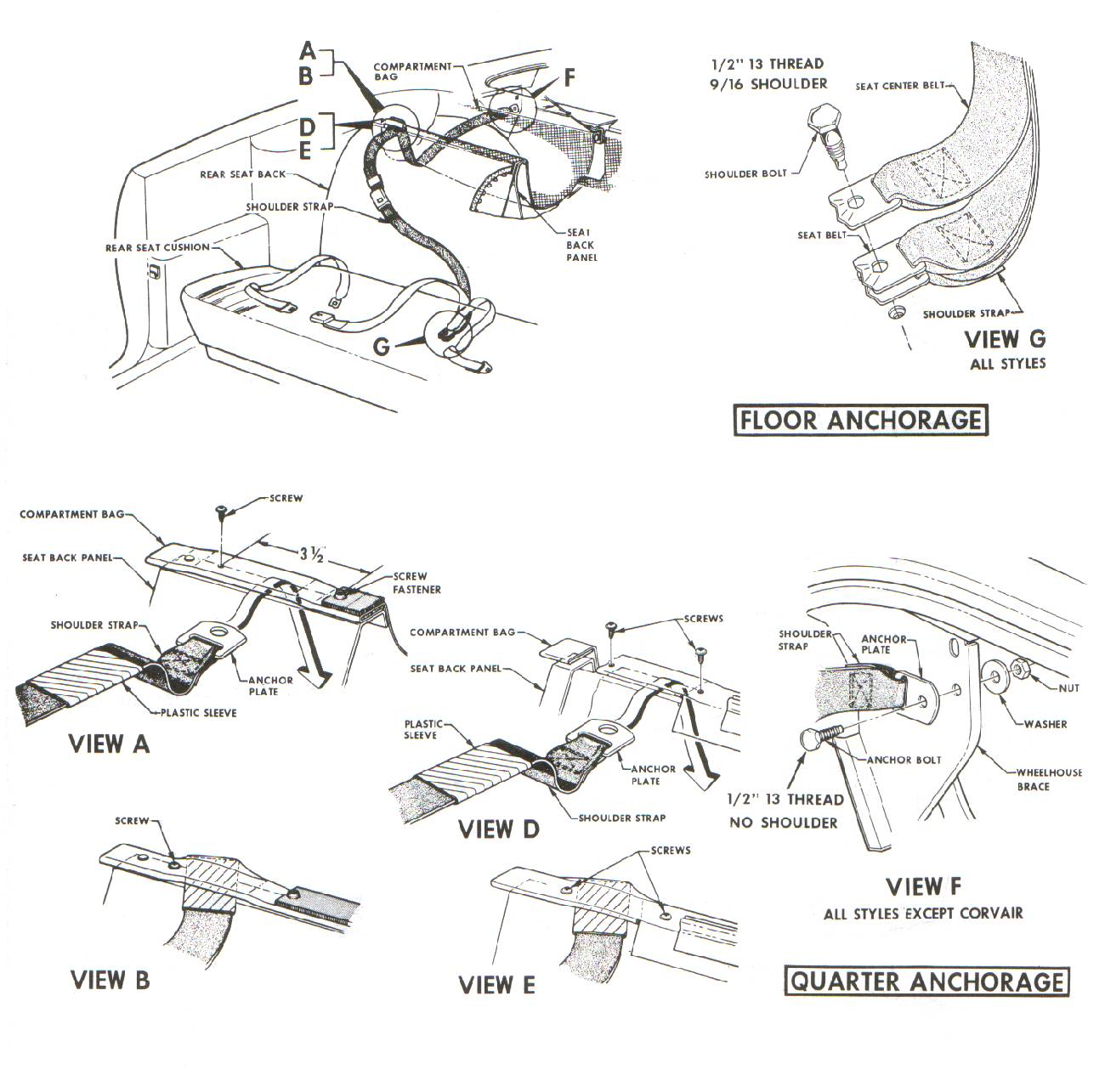 3 Point Seat Belt Installation 1965 Mustang Convertible on 1962 cadillac wiring diagram