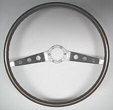 1964 1966 Chevrolet Two Spoke Walnut Steering Wheel