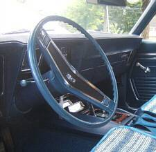 Blue SS steering wheel