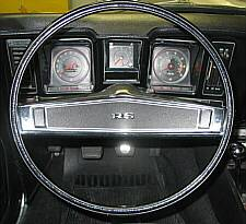 "1969 Standard Steering Wheel with ""RS"" emblem"