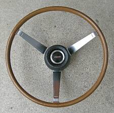 Late 1960's Pontiac wood steering wheel